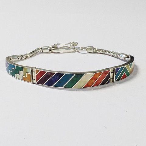 bracelet péruvien, argent 950