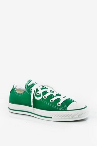 Converse All Star Core Low Sneakers in Green $31 at www.tobi.com