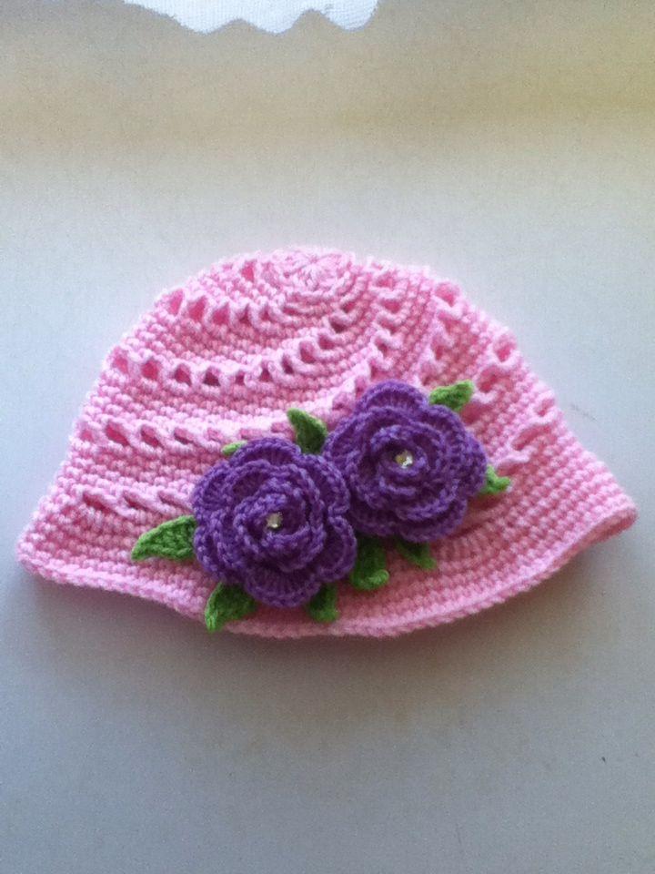Pink swirl hat