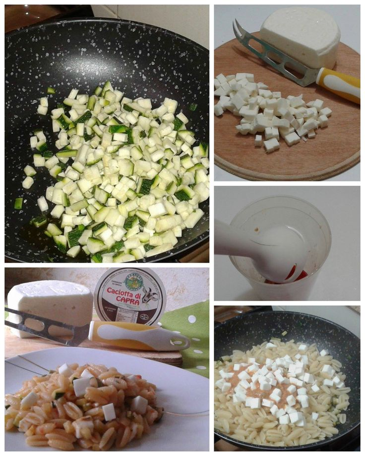 Gnocchi sardi con zucchine e #CaciottadiCapra