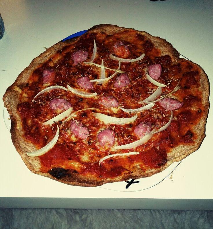 Pizza masa integral casera 😋