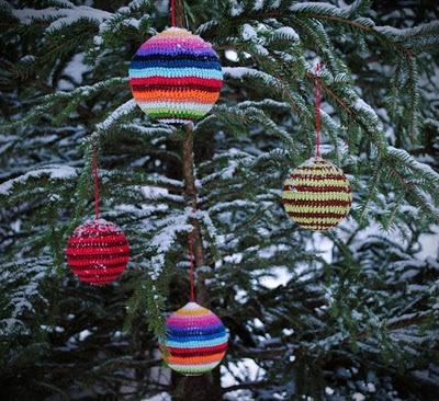 Søde udendørs julekugler