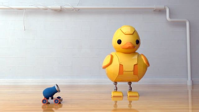 1 week project_ rubber duck   03 Bot duck  - personal  work  tool: C4d, v-ray