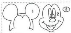 Moldes para hacer peluche de Mickey Mouse