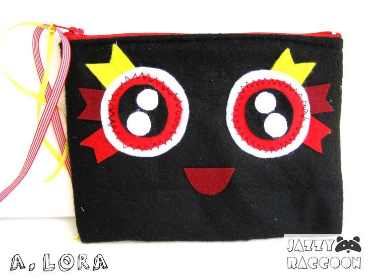 Funny cute purse.  Fluffy ball in my purse! by JazzyRaccoon on Etsy