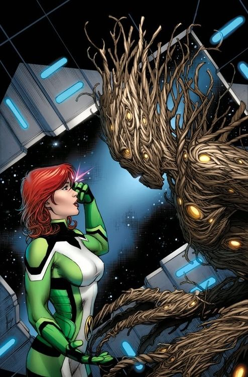 Jean Grey & Groot (All New X-Men and Guardians of the Galaxy: Trial of Jean Grey Variant) - Dale Keown