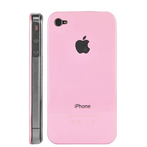 New Light Pink Back Replicase Hard Crystal Air Jacket Case for iPhone 4 4G 4S (ATT / Sprint / Verzion)