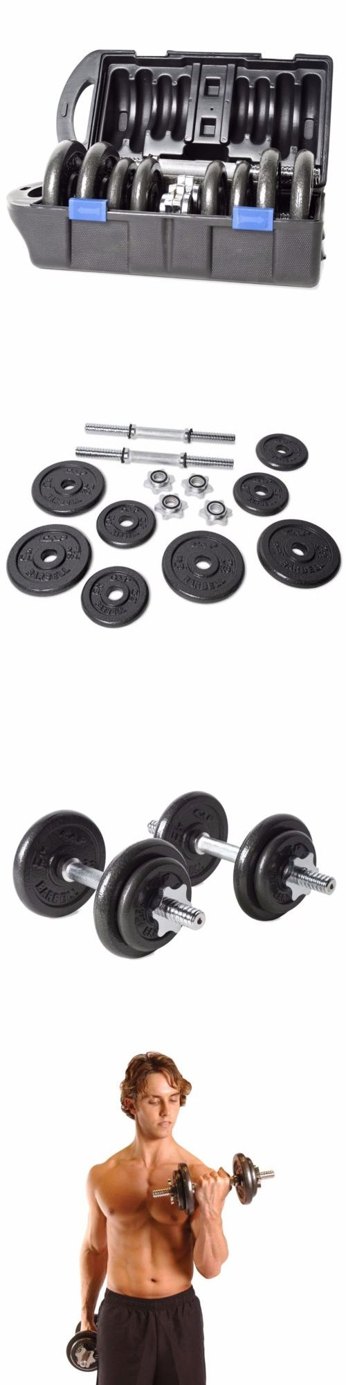 Dumbbells 137865: Dumbbell Weight Set 40 Lbs Pair Adjustable Body Workout Free Weights Portable -> BUY IT NOW ONLY: $71.49 on eBay!