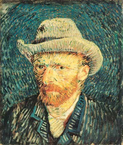Post-impressionisme: een kenmerk van post-impressionisme is dat het vaak zelfportretten zijn, die vanaf het zijaanzicht voor driekwart van het gezicht zichtbaar is!
