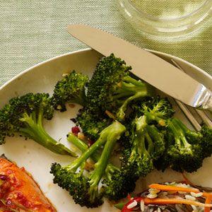 Crispy Garlic Broccoli- Just made it tonight. I would add a little ...