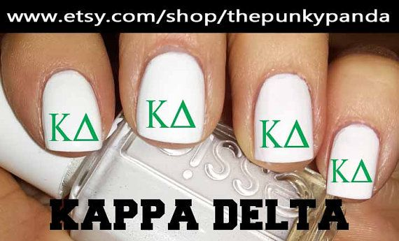 Buy 2 Get 1 Free  Kappa Delta Sorority Nail Decals