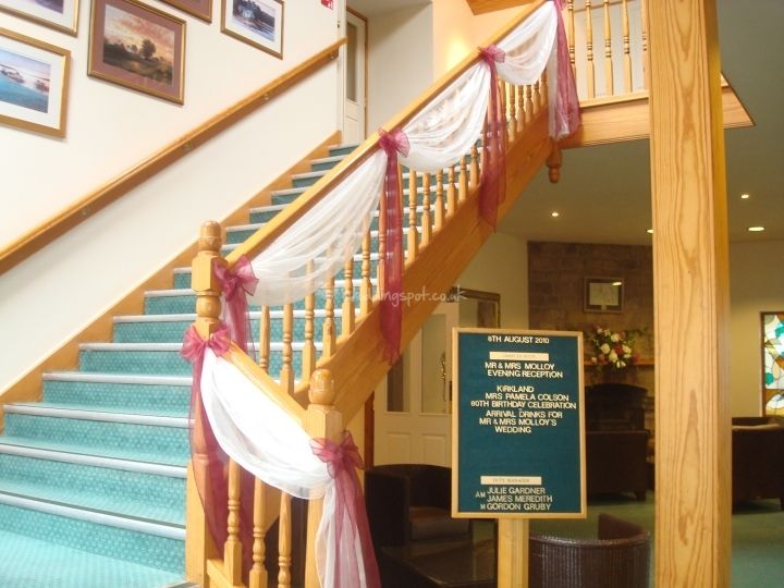 Staircase draping