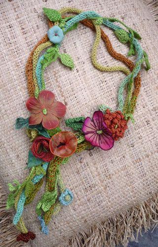necklace, flower