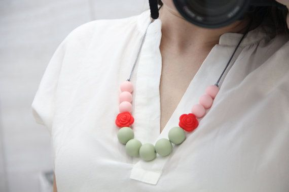 Silicone Teething Necklace Nursing Necklace with от TeetherLand