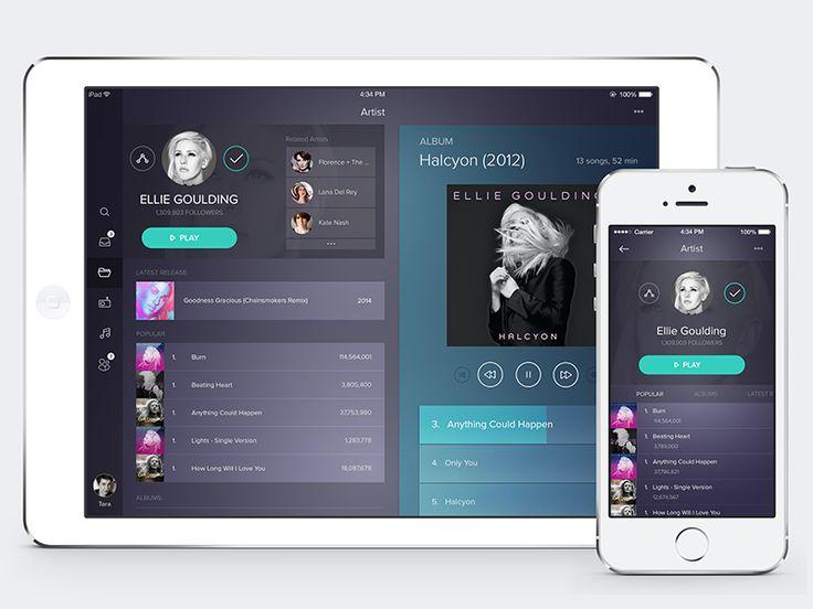 iPad Music Player by Ehsan Rahimi