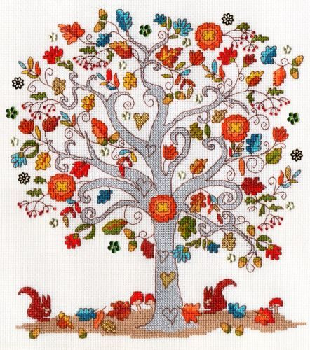 Love Autumn Cross Stitch - Bothy Threads