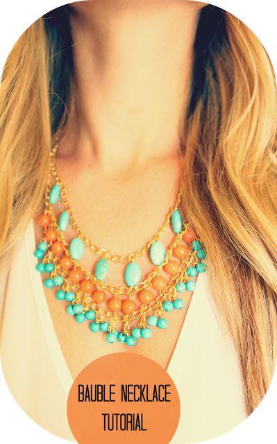 A Lil Bit Fancy: DIY Bauble Necklace Tutorial
