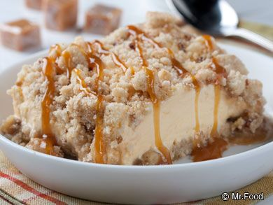 Cool down this summer with a hearty bite of this icebox cake recipe for Caramel Frozen Squares. Sprinkle with cookie crumbs and drizzle caramel sauce on top for an unbelievable dessert.
