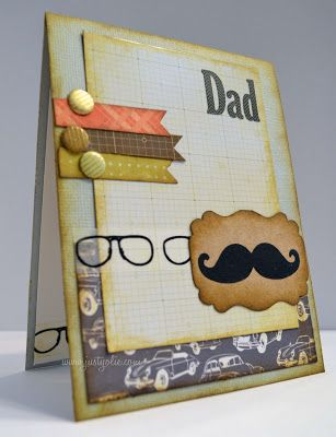 Father's Day card using #heartstringdesigns #mustachemadness  #housecallskit