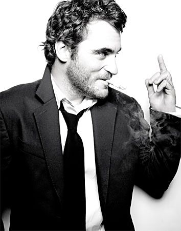 Joaquin Phoenix -  he's so cute when he's flipping someone off!   or doing anything...
