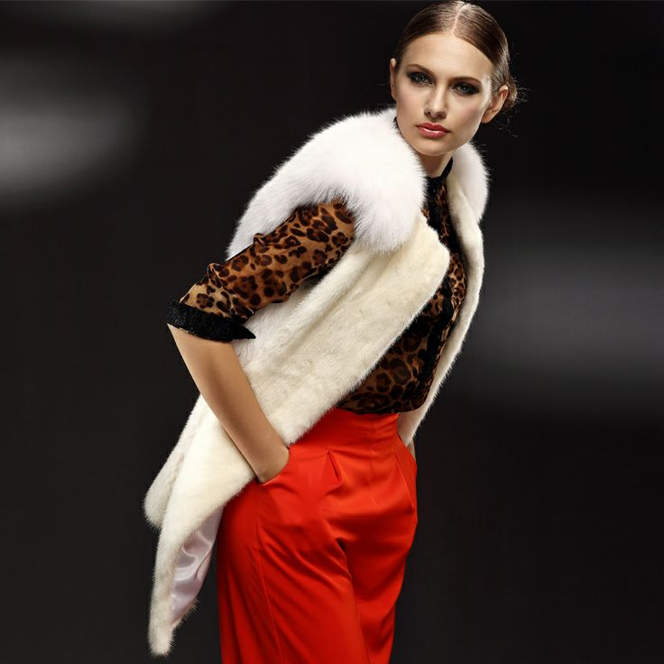 chaleco de cuero de piel de visón chaleco de abrigo de las mujeres 2012 jindao parte superior de piel de zorro ropa de abrigo