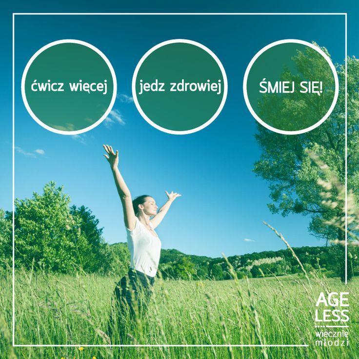 Trzy proste rady, których stosowanie mogą skutecznie poprawić nasze samopoczucie. #ageless #cwiczenia #smiech #zdrowie #zdrowejedzenie #wieczniemlodzi www.ageless.pl