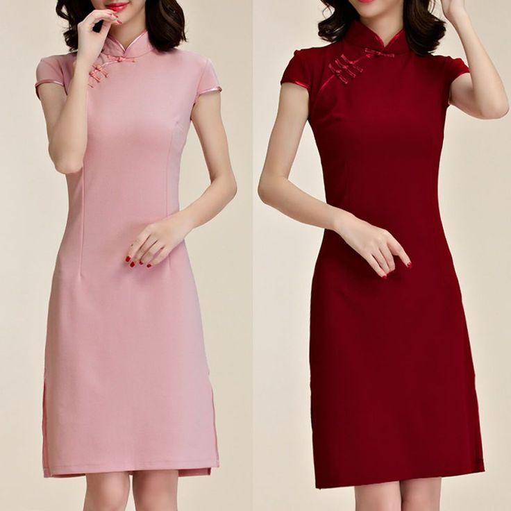 Women Oriental Style Festive Flag Dress Cap Sleeve AU Size 8 10 12 14 16 18 6589