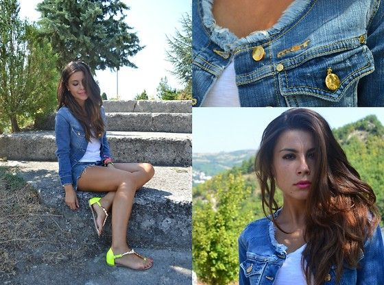 Valentina Marzullo - Met Jacket, Romwe Sandals, Zara Tshirt - Total Denim