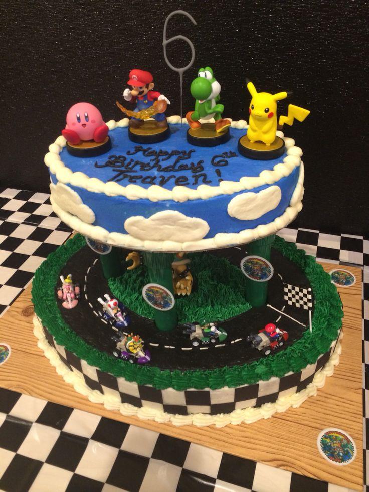 Mario / smash brothers birthday cake Birthday ideas 2014 ...