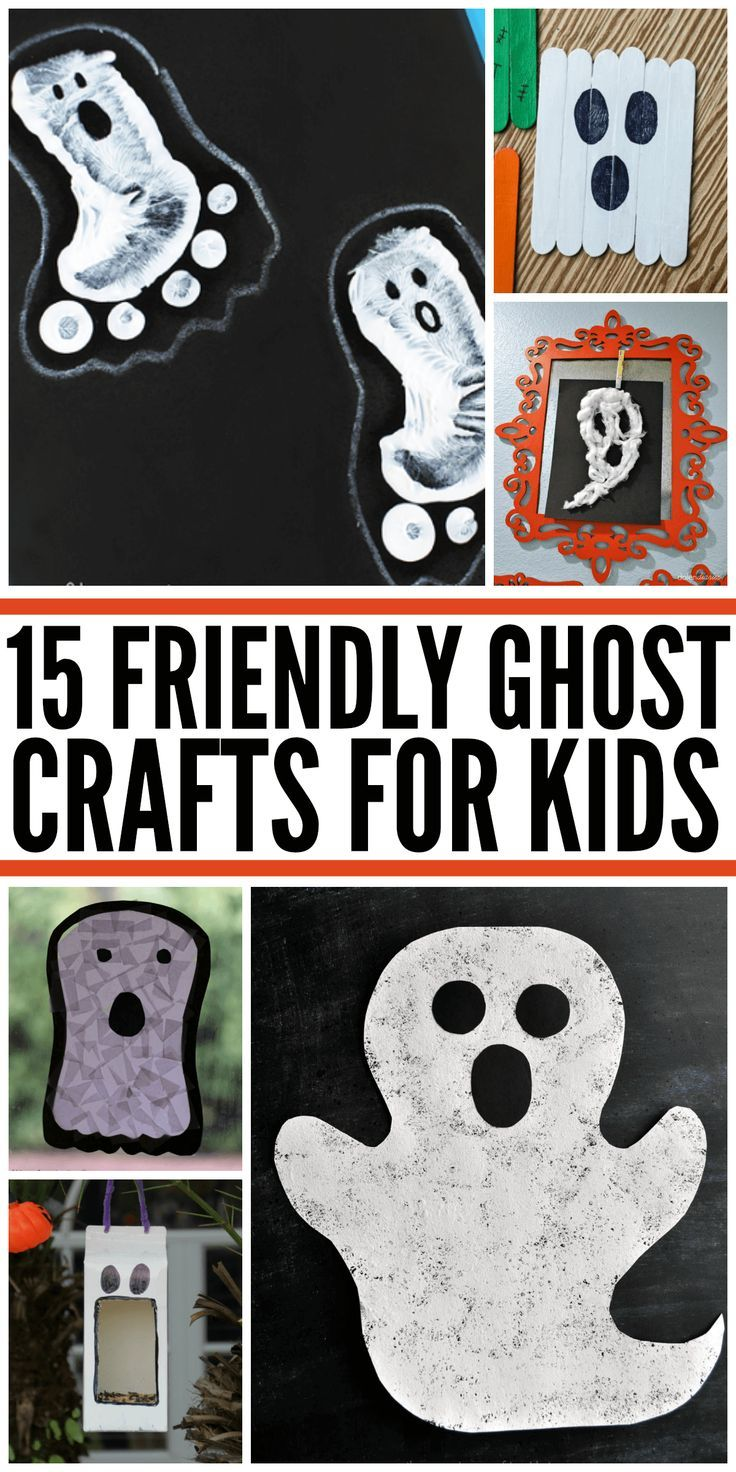 15 cute and friendly ghost crafts for kids at Halloween. Non scary!