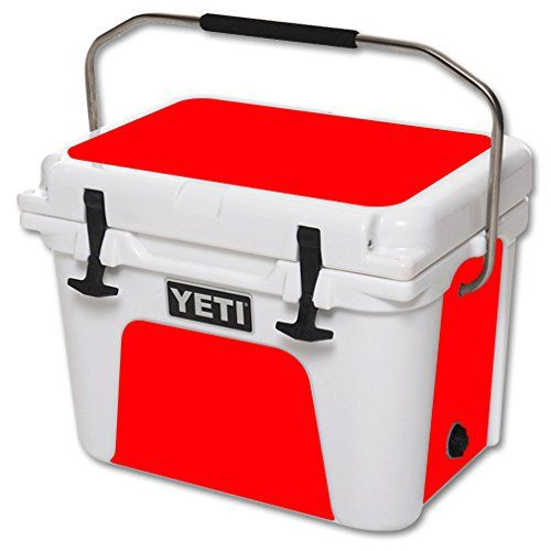 MightySkins Protective Vinyl Skin Decal for YETI Roadie 20 qt Cooler wrap cover sticker skins Solid Red ** You can get additional details at the image link.(This is an Amazon affiliate link and I receive a commission for the sales)