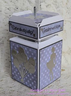 Karins-kortemakeri: Cracker box with box lid top