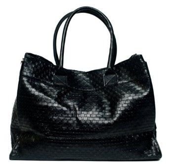 Ladies Designer Woven Tote Purse / Bag with Magnetic Closure --- http