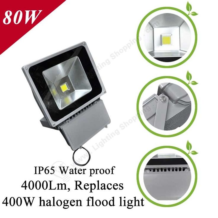 Best Price Led Flood Lights, Waterproof, Wired, AC85~265V, Replaces Traditional Halogen flood light - Detail-80W