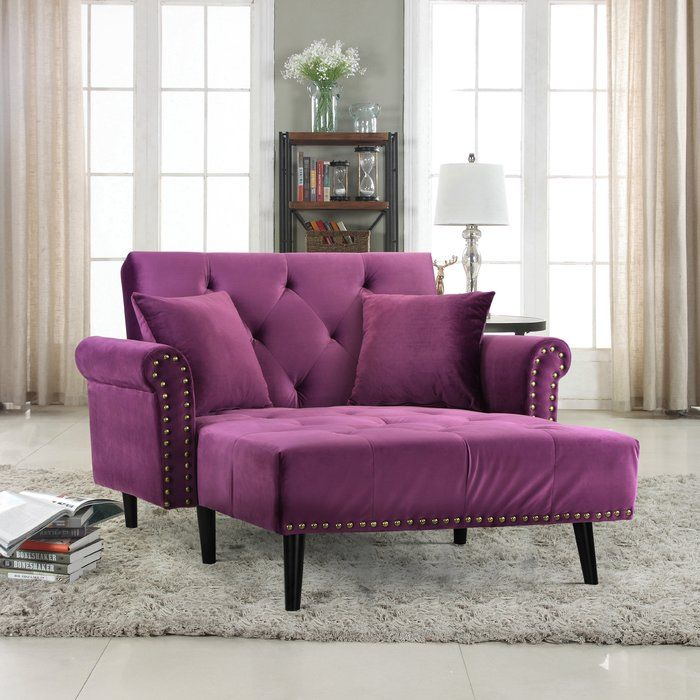 Pleasing Tilstone Chaise Lounge In 2019 House Ideas Purple Caraccident5 Cool Chair Designs And Ideas Caraccident5Info