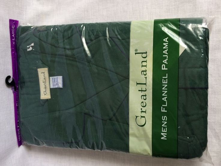 Greatland Mens Flannel Pajama Set Green Size XL New in Pkg Long Sleeve & Leg #Greatland #PajamaSets