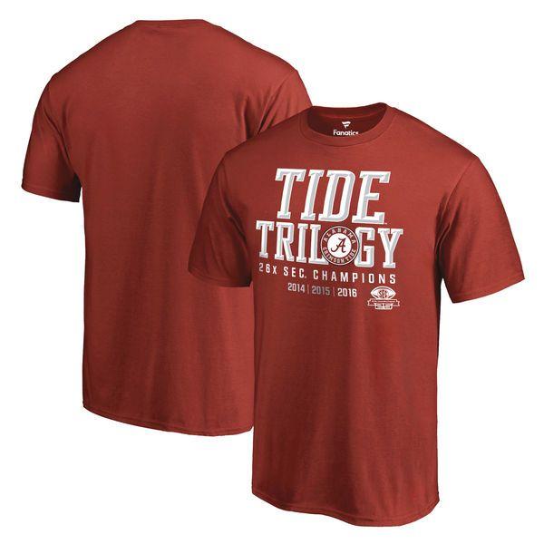 Alabama Crimson Tide Fanatics Branded 2016 SEC Football Champions T-Shirt - Crimson - $16.99