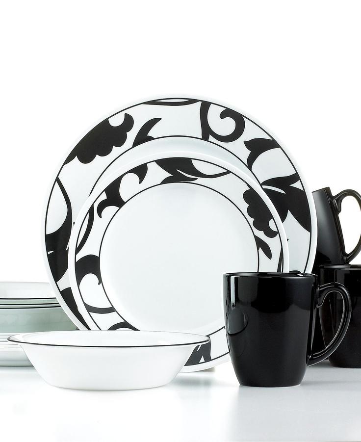 corelle dinnerware noir 16 piece set casual dinnerware dining u0026 macyu0027s