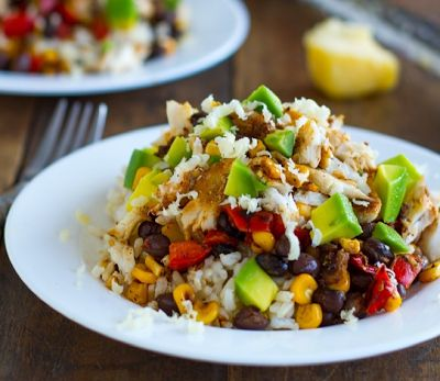 Baja Fish Taco Bowl: 5 STAR RECIPE!  Quick, easy, fresh, healthy, and deeelicious!  My family requested it for next week's menu and I just made it!  Low carb?  Put on spinach instead of rice.  Yummmmmm!