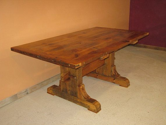 BARNWOOD TABLE  Barnwood Dining Table  by ViennaWoodworks on Etsy, $990.00