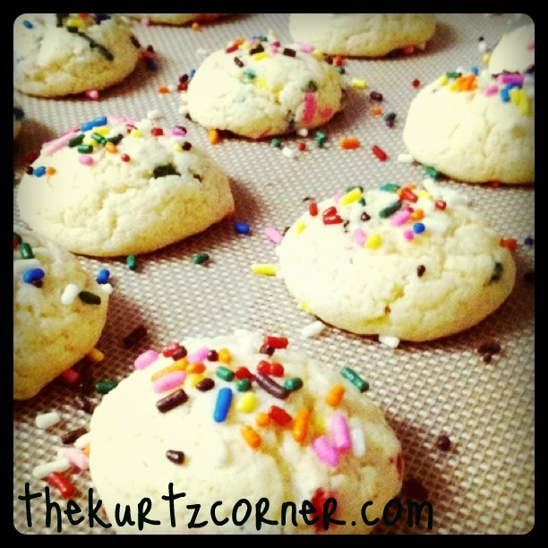 Cake Batter Cookies Without Cake Mix