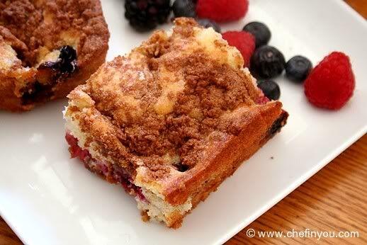 Very Berry Coffee Cake Recipe | Starbucks Styled Berry Cake