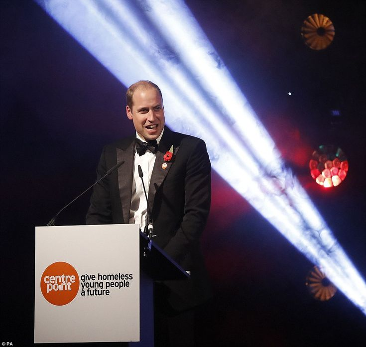 The Duke of Cambridge makes a speech at a fundraising event and awards evening in aid of Centrepoint, which he hosted at Kensington Palace