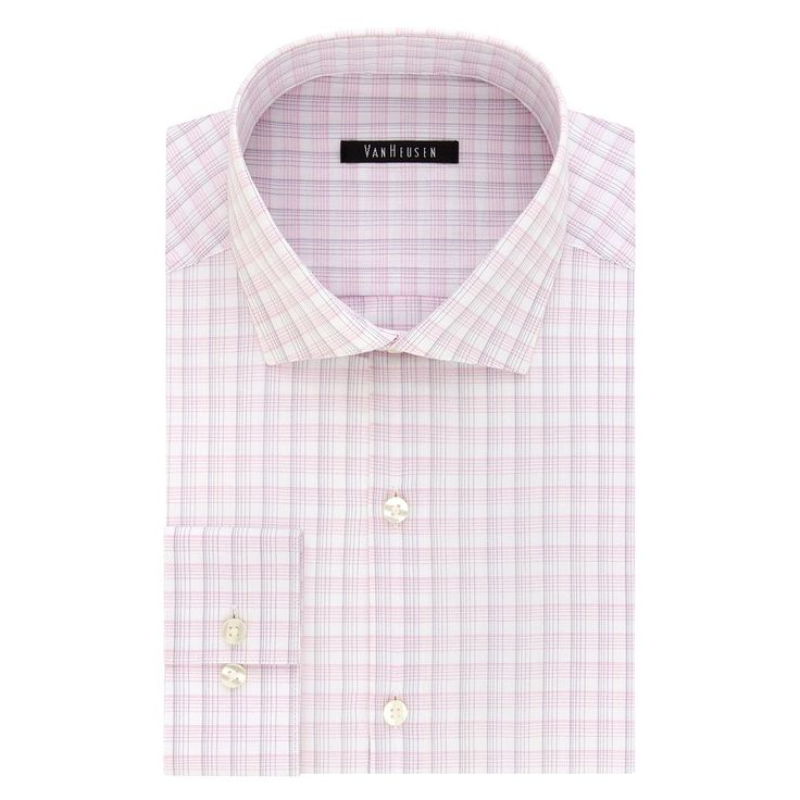 Men's Van Heusen Fresh Defense Extra-Slim Fit Dress Shirt, Size: 18.5 36/37, Light Pink