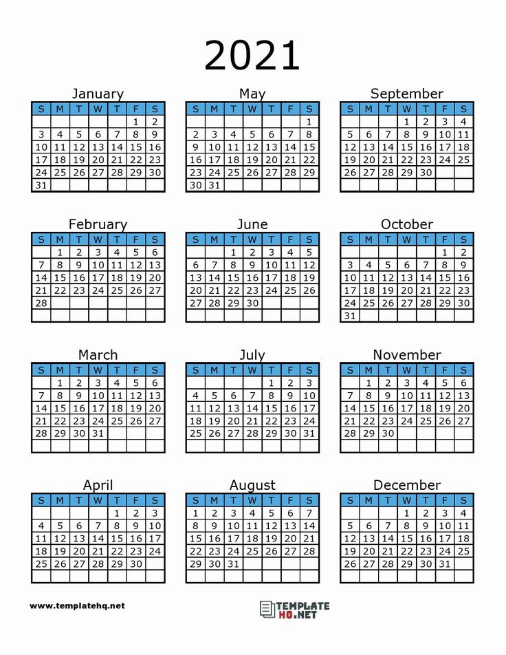 Editable & printable 2021 Calendar templates with holidays
