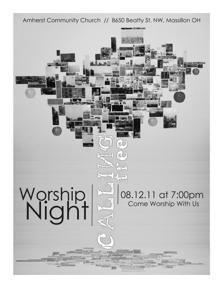 Calling Tree Worship Night Flyer Design by: testamentdesign.com