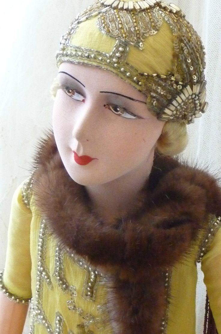 ANTIQUE FRENCH BOUDOIR DOLL.FLAPPER DOLL PARIS C.1920..FASHION DOLL.GATSBY