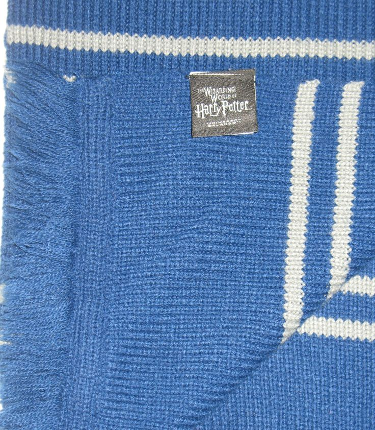 Love this long, long Harry Potter scarf. If the sorting hat put you in Ravenclaw, then this scarf is for you! #harrypotter #ravenclaw #scarves $39.95 #ck