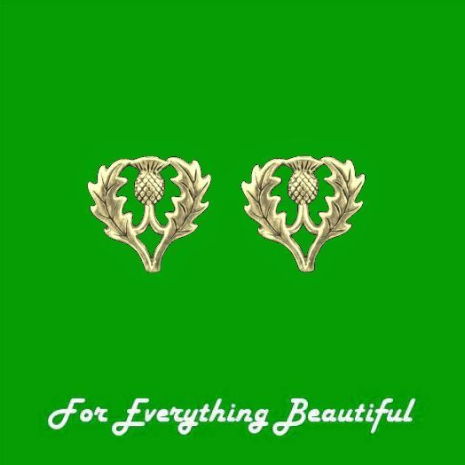 For Everything Genealogy - Thistle Scotland Themed Medium 14K Yellow Gold Stud Earrings , $400.00 (http://foreverythinggenealogy.mybigcommerce.com/thistle-scotland-themed-medium-14k-yellow-gold-stud-earrings/)