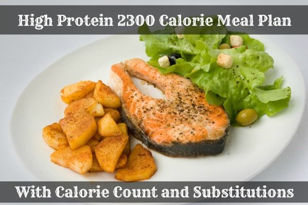 High Protein 2300-2400 Calorie Diet Meal Plan | Healthy ...